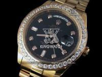 ROLEX DAY DATE PLATING ROSE GOLD SWISS 2836 AUTOMATIC BLACK 502